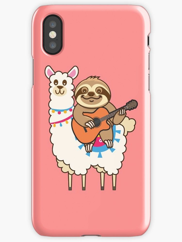 best sneakers 998af 5bfcc Cute Sloth llama' iPhone Case by plushism | @Redbubble | Cute sloth ...