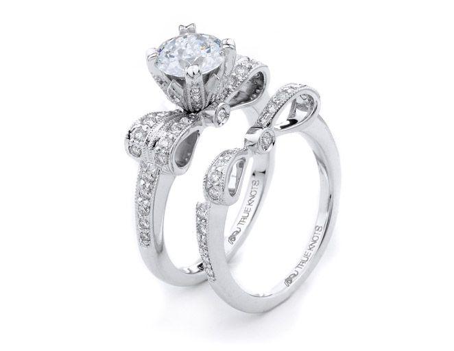 diamond bow rings