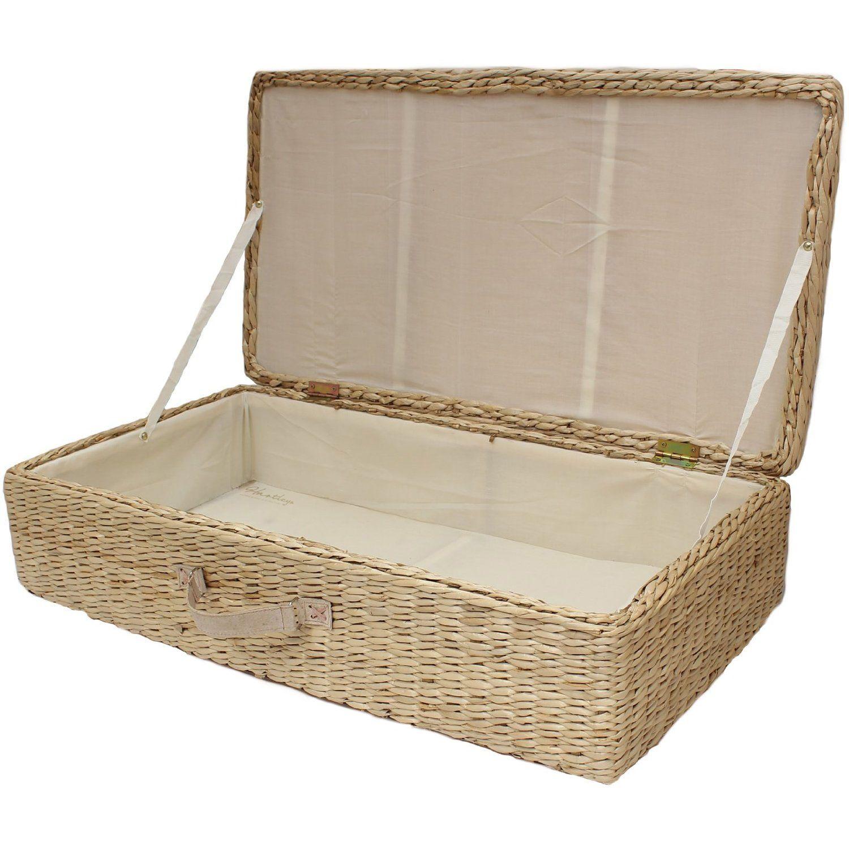 Large Under BED Storage BOX Trunk Wheeled Underbed Shoe Bedding Blanket Chest | eBay  sc 1 st  Pinterest & Large under bed storage box/trunk wheeled underbed shoe/bedding ...