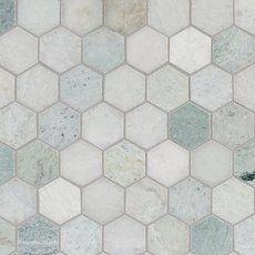caribbean green hexagon marble mosaic