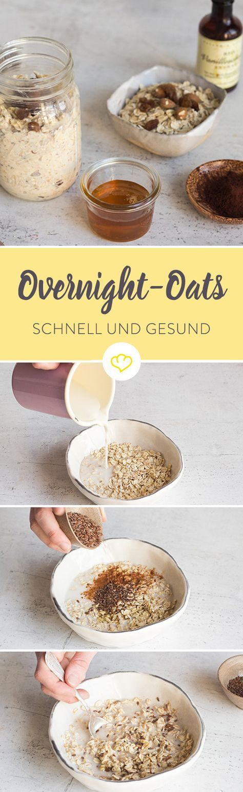 heute zubereiten morgen genie en einfache overnight oats low carb pinterest fr hst ck. Black Bedroom Furniture Sets. Home Design Ideas