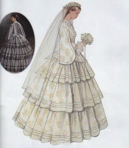 Civil War Wedding Dress Pattern