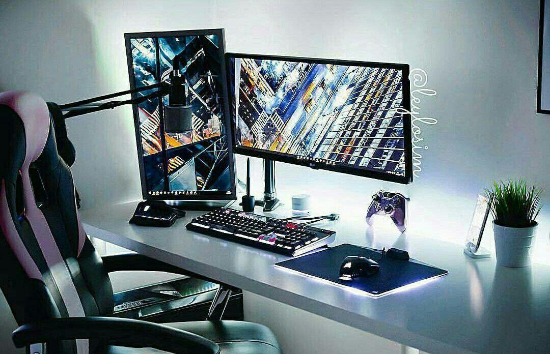 Gaming desks computrt table pinterest bureau and maison