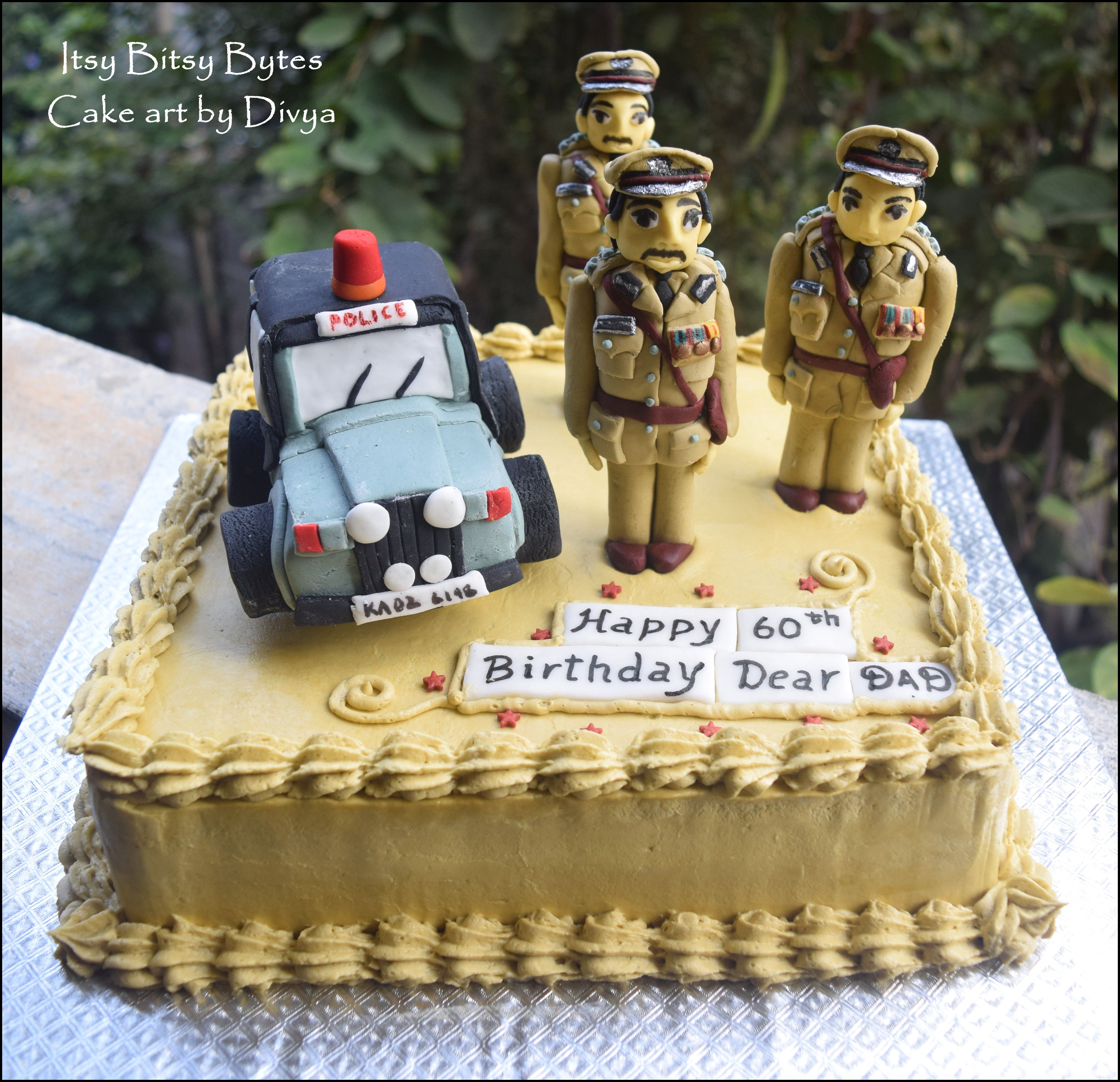 An Indian Police Cake For The 60th Birthday Of A Dad Who