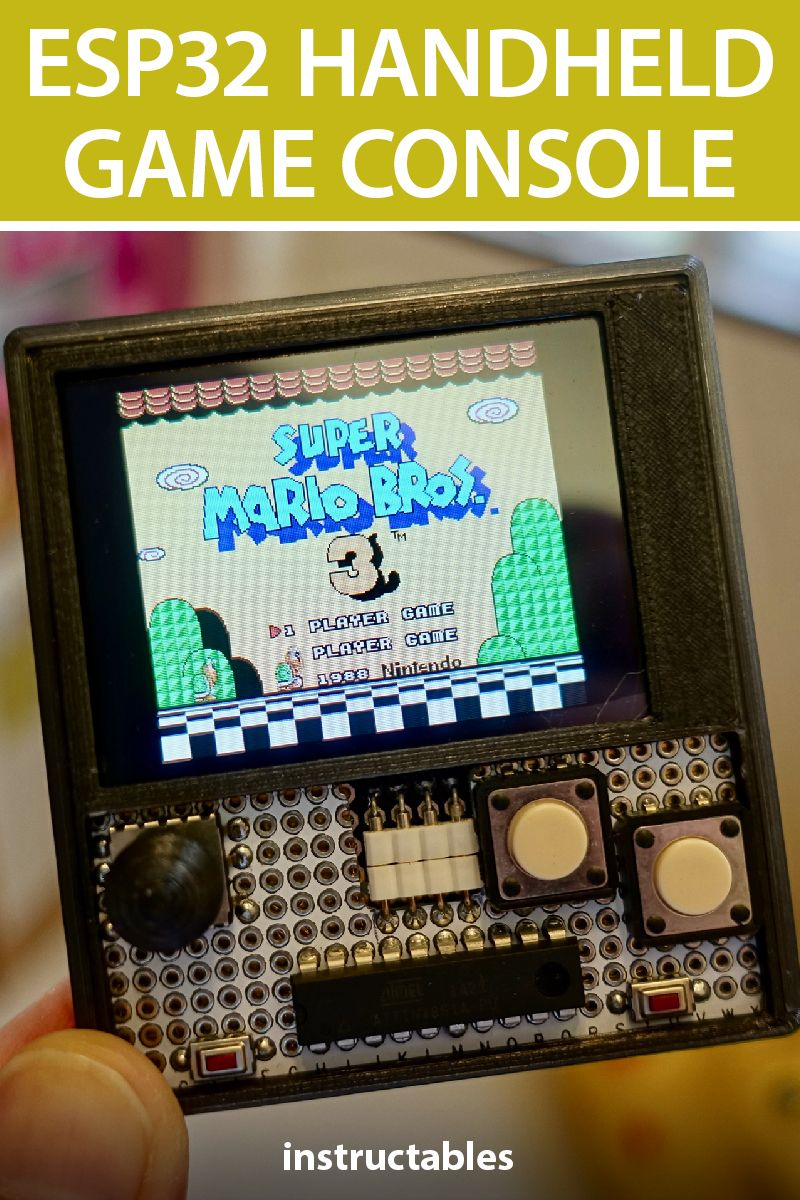 ESP32 Handheld Game Console | Electronics Projects | Console