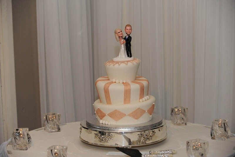 Custom cake toppers designed in the image of the bride & groom! - Emerald at Queensridge Bakery