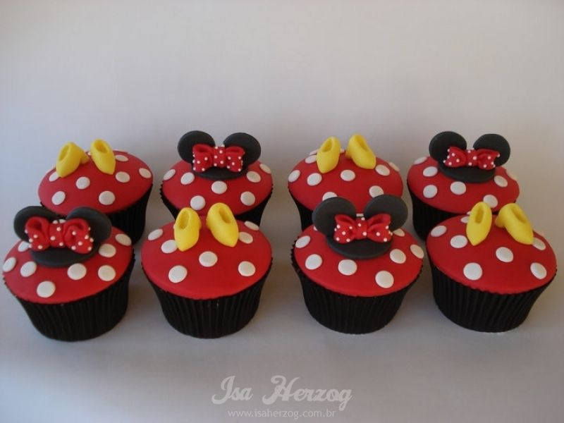 Minnie Mouse Bolo Da Minnie Mouse Festa Minnie Disney Cupcakes