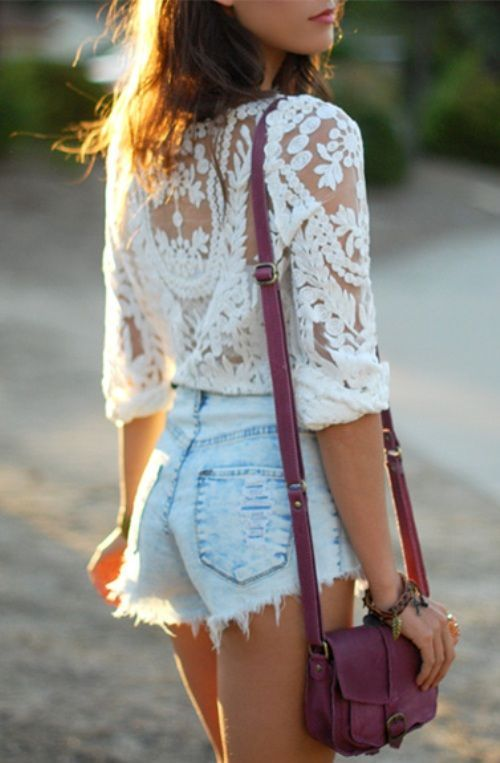 High waisted denim shorts what to wear with – Your new jeans photo ...