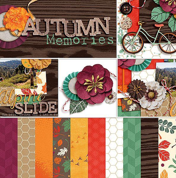 Autumn Memories Collection Digital Scrapbooking Kit by Laurel Lakey | ScrapGirls.com