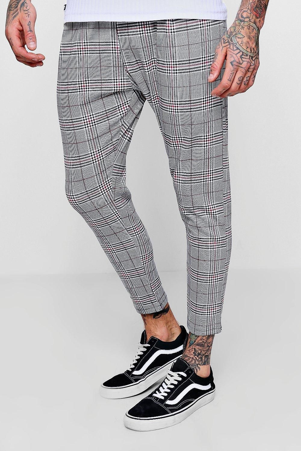 7a8cc261 Shop Prince Of Wales Red Check Smart Jogger at boohooMAN. Discover our  range of men's Mens Occasionwear Sz L