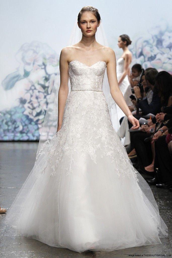 Monique Lhuillier Strapless Wedding Dresses