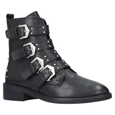 Carvela Scant Buckle Ankle Boots, Black