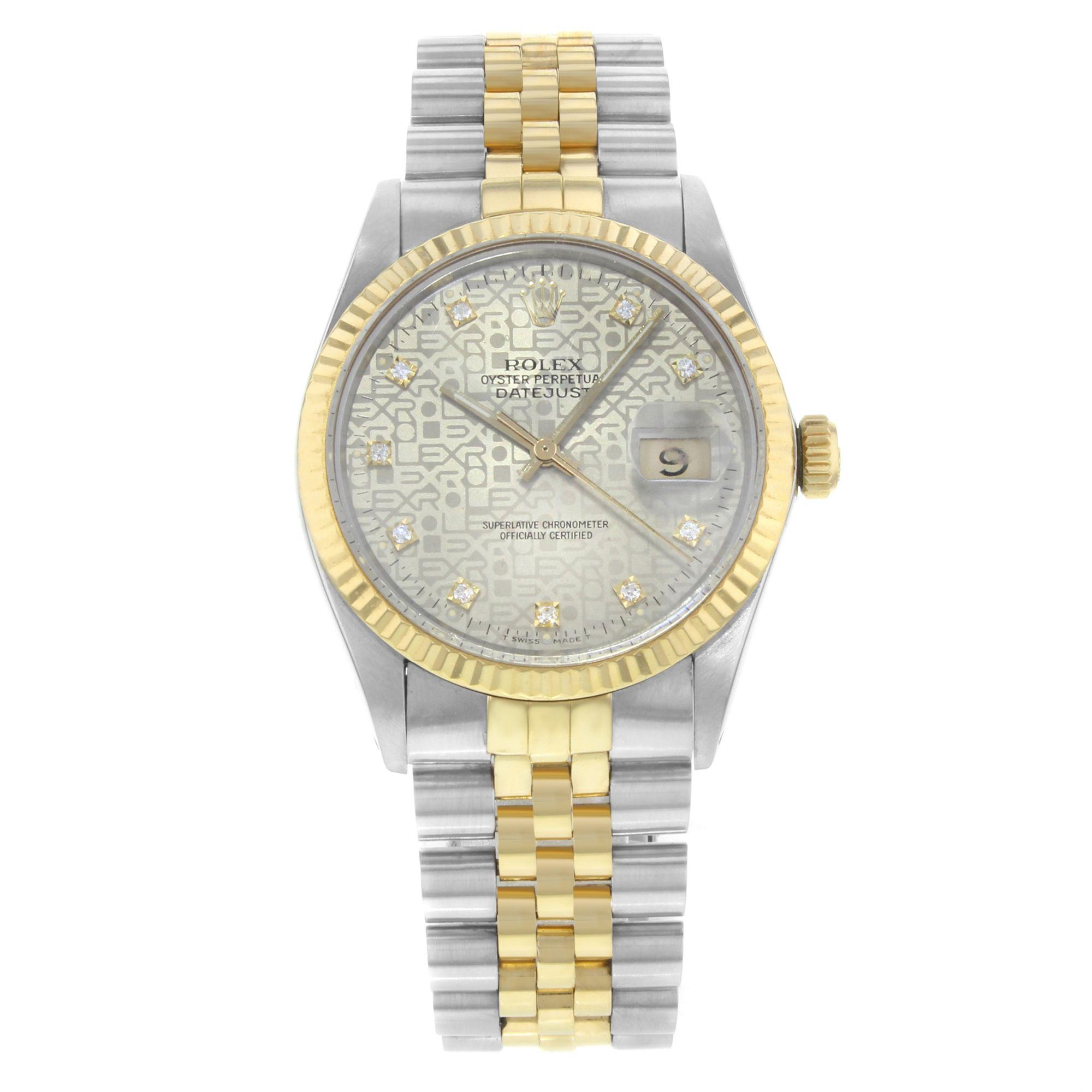 Rolex Datejust 16013 18K Yellow Gold & Steel Automatic Men's Watch