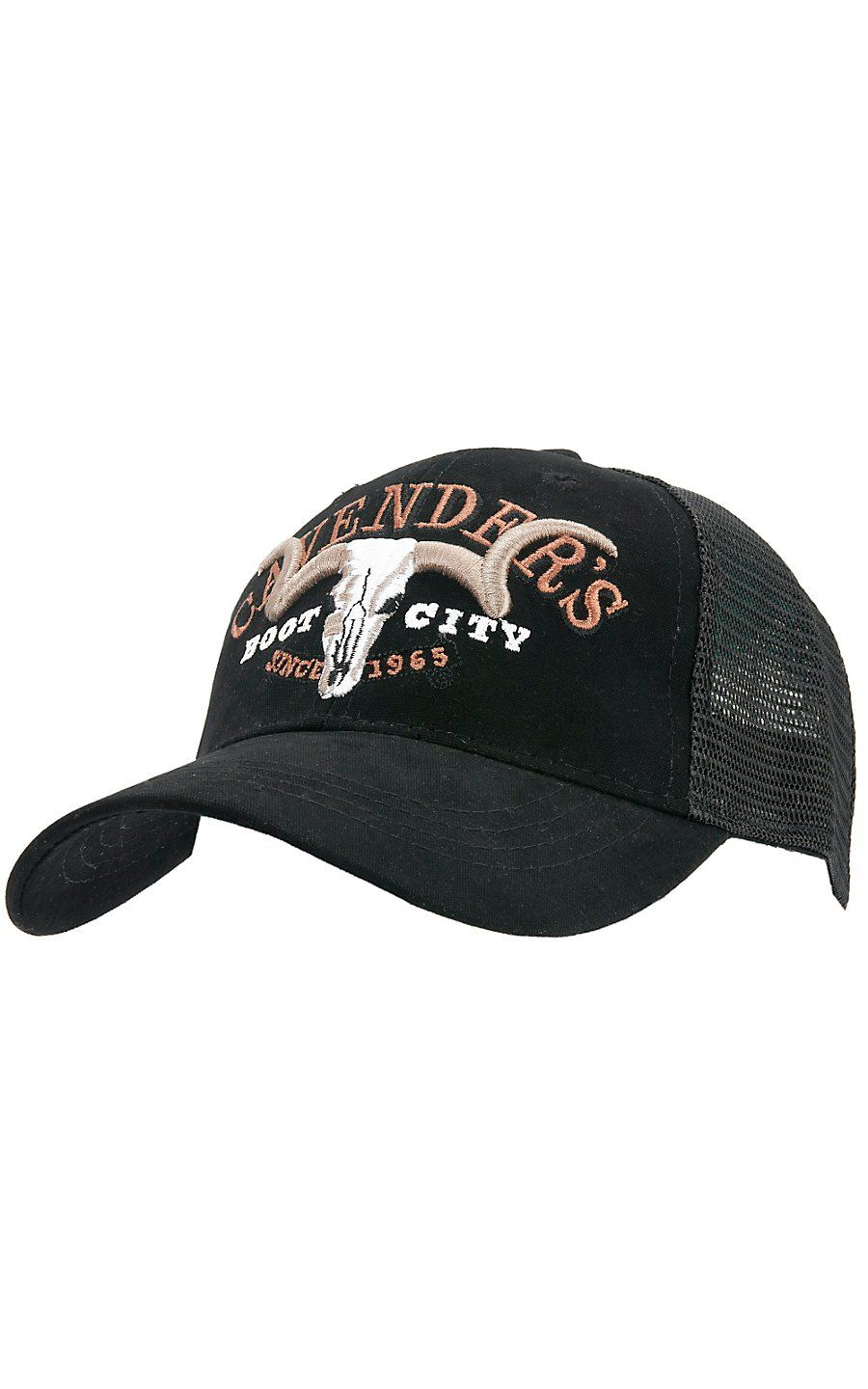 Cavender s Black with Black Mesh Trucker Cap  544b147da5d