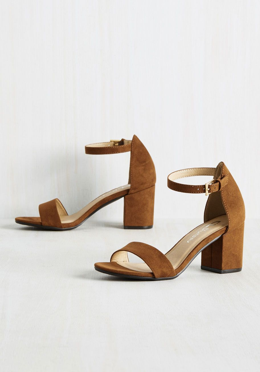 9971168bd9a3 Take these brown heels for a spin - but not too fast