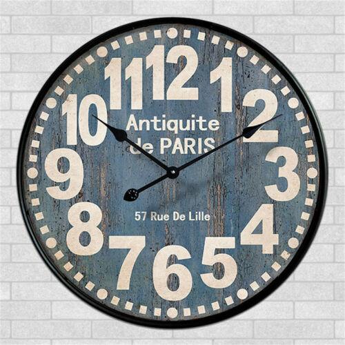 Retro Wall Clock Antiquite De Paris 57 Rue De Lille Home Living Room Decor Ebay Retro Wall Clock Distressed Wall Clock Clock Wall Decor