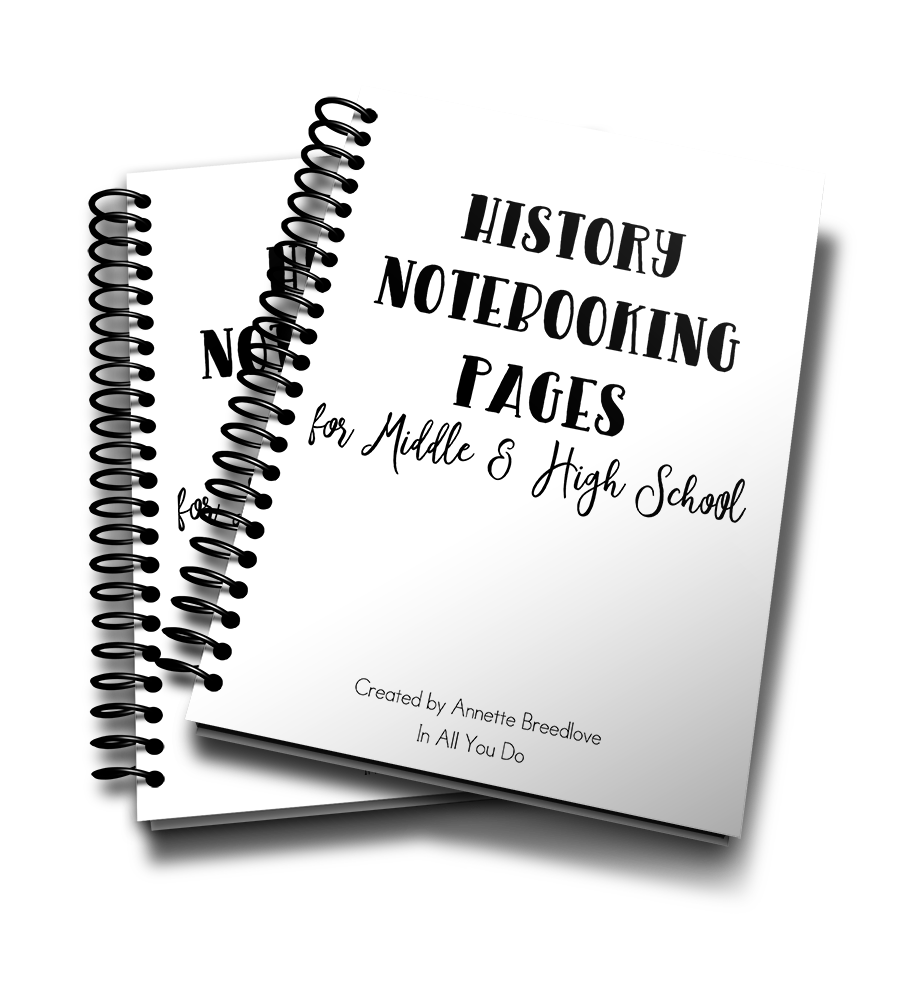 Photo of History Notebooking Pages for Upper Grades – In All You Do