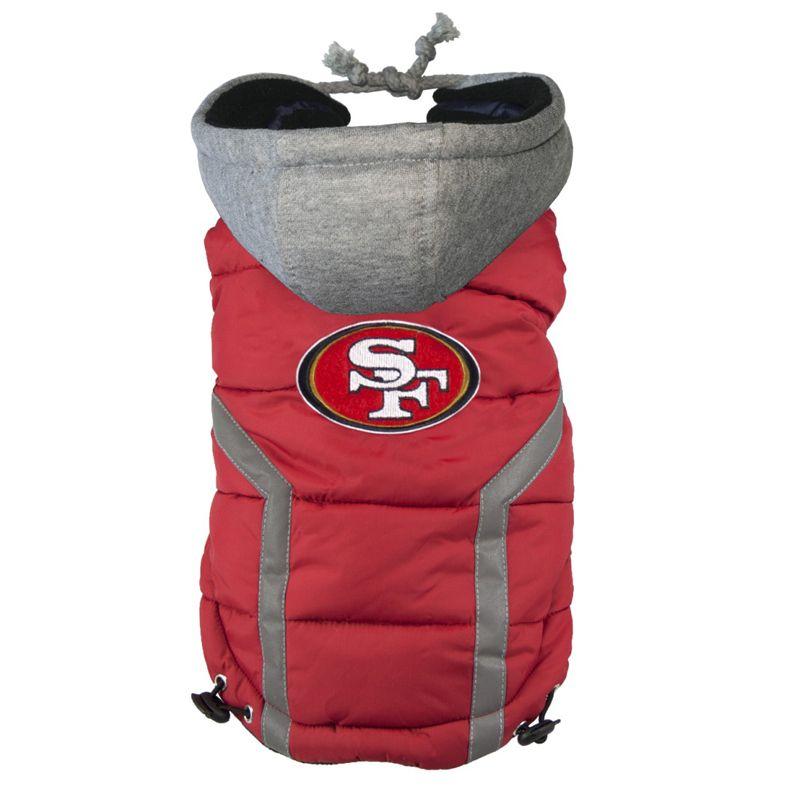 f5fe0c3a9 San Francisco 49ers Dog Puffer Vest at BaxterBoo
