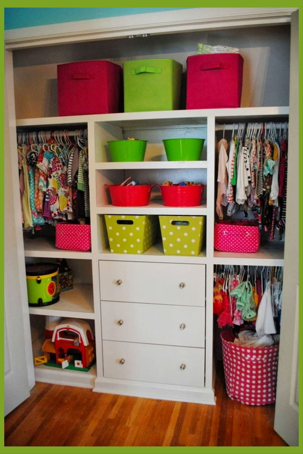 how to organize baby clothes in wardrobe
