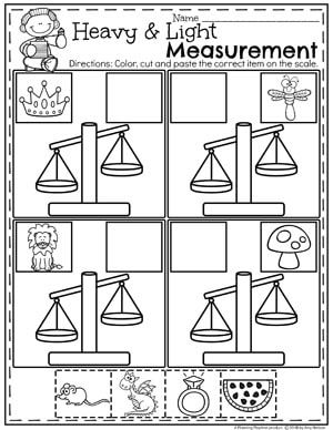 measurement worksheets taman kanak kanak pinterest kindergarten math math and math worksheets. Black Bedroom Furniture Sets. Home Design Ideas