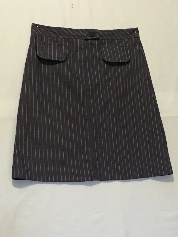 Lilly Pulitzer Girls Size 10 Skirt Gray Pink/Green Striped Menswear Suiting