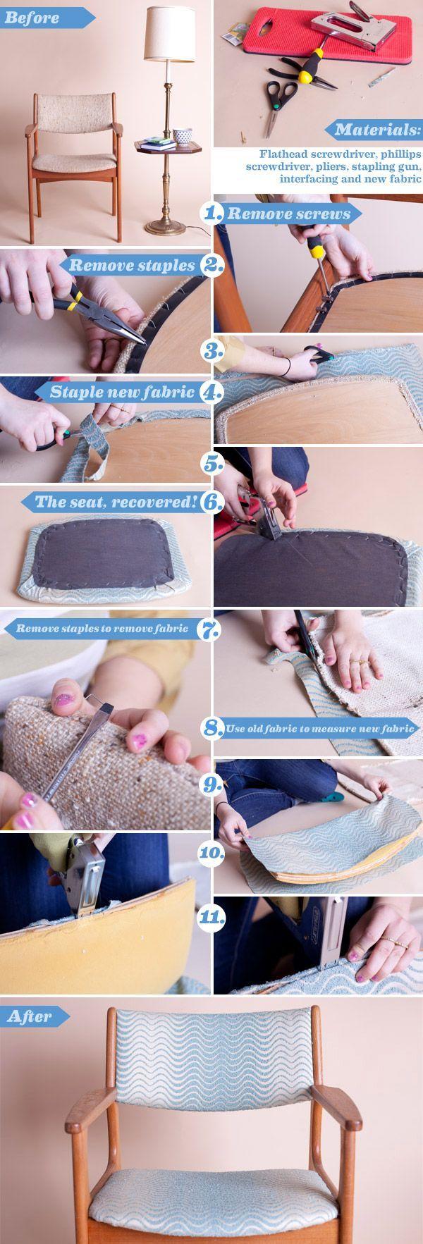 D I Y D E S I G N: How To Re-Upholster A Sofa | Living Room | Pinterest |  Tuto, Fauteuils Et Capitonnage
