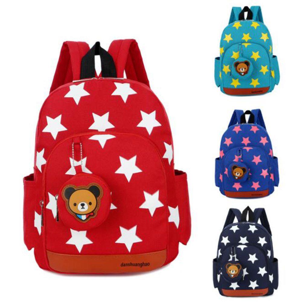 8.99 - Cute Baby Kids Girls Backpack Star Pattern School Bag Small Bookbag  Hot Sale  ebay  Fashion 0fdf45cf48d9d