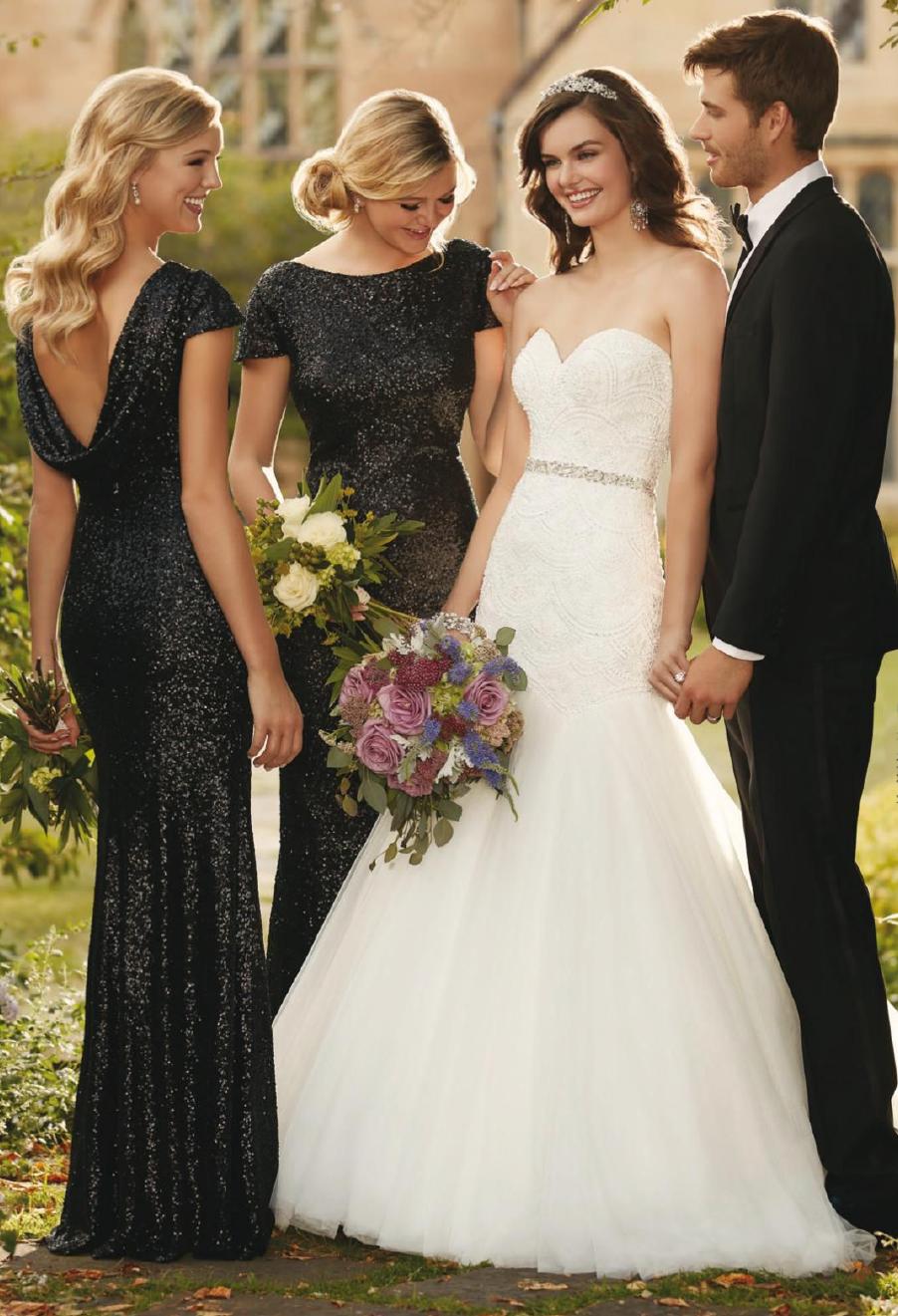 Elegant Black Bridesmaid Dresses Black bridesmaid