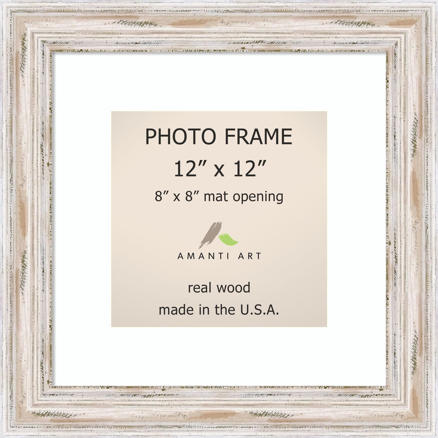 Alexandria whitewash photo frame x matted to xu x inch