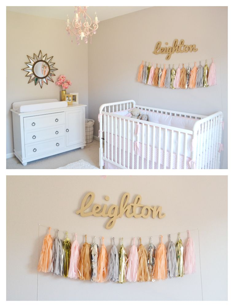 Leighton Kate\'s Pink and Gold Nursery | Pinterest | Kinderzimmer und ...