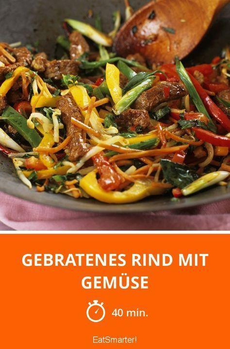 Gebratenes Rind mit Gemüse - smarter - Zeit: 40 Min. | eatsmarter.de