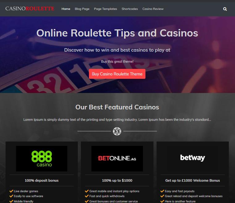 Pin On Casino Affiliate Wordpress Themes