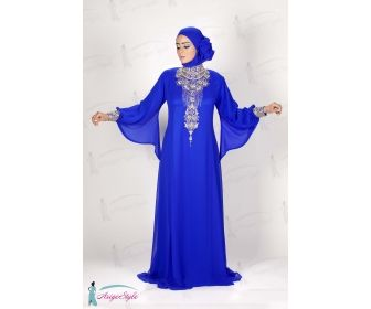 Modele robe soiree pour femme voilee
