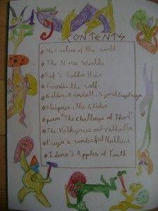 Waldorf ~ 4th grade ~ Norse Mythology ~ contents ~ main lesson book