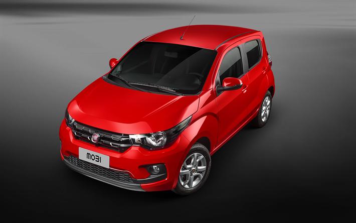 Descargar Fondos De Pantalla Fiat Mobi 2018 Rojo Hatchback Coches