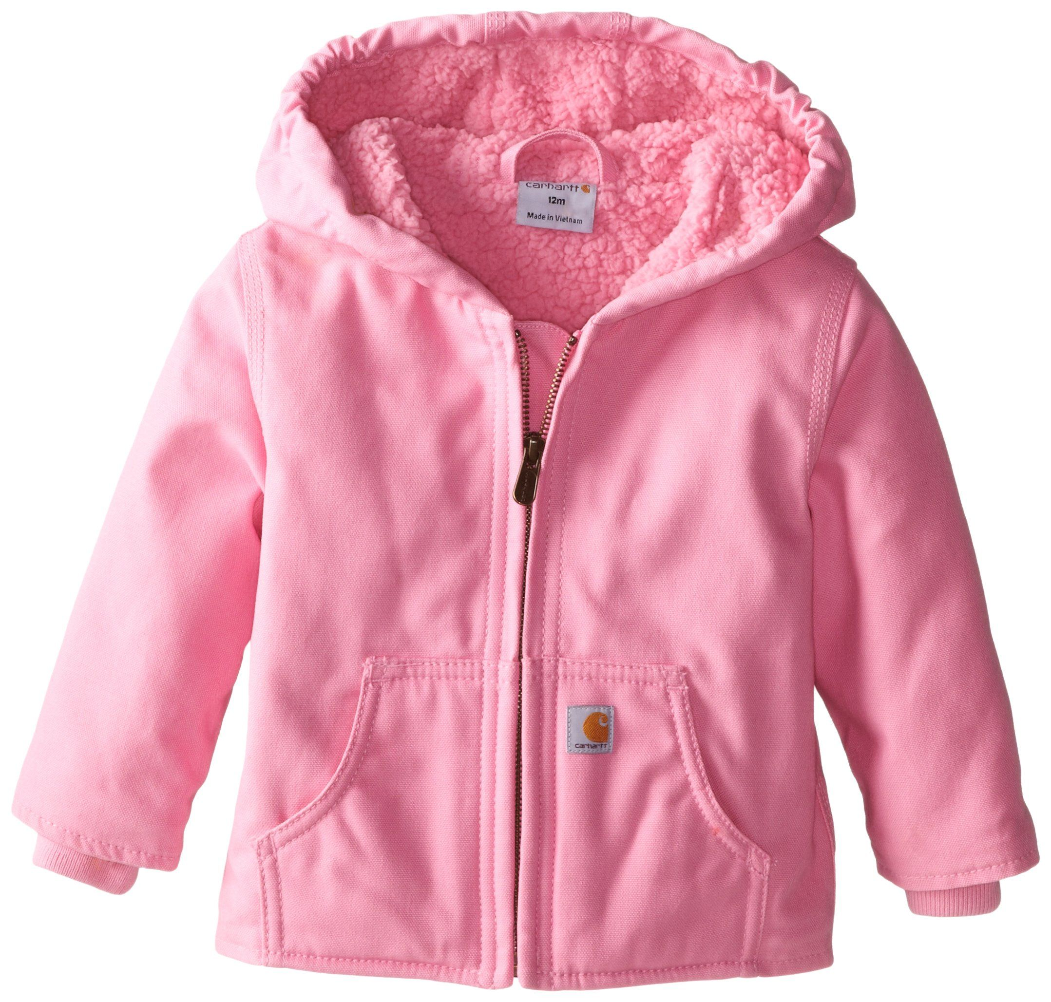 bb7f26887541 Carhartt Baby Girls  Redwood Jacket Sherpa Lined, Pink, 12 Months ...