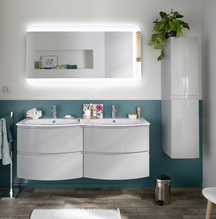 les meubles de rangement de salle de bains  les colonnes