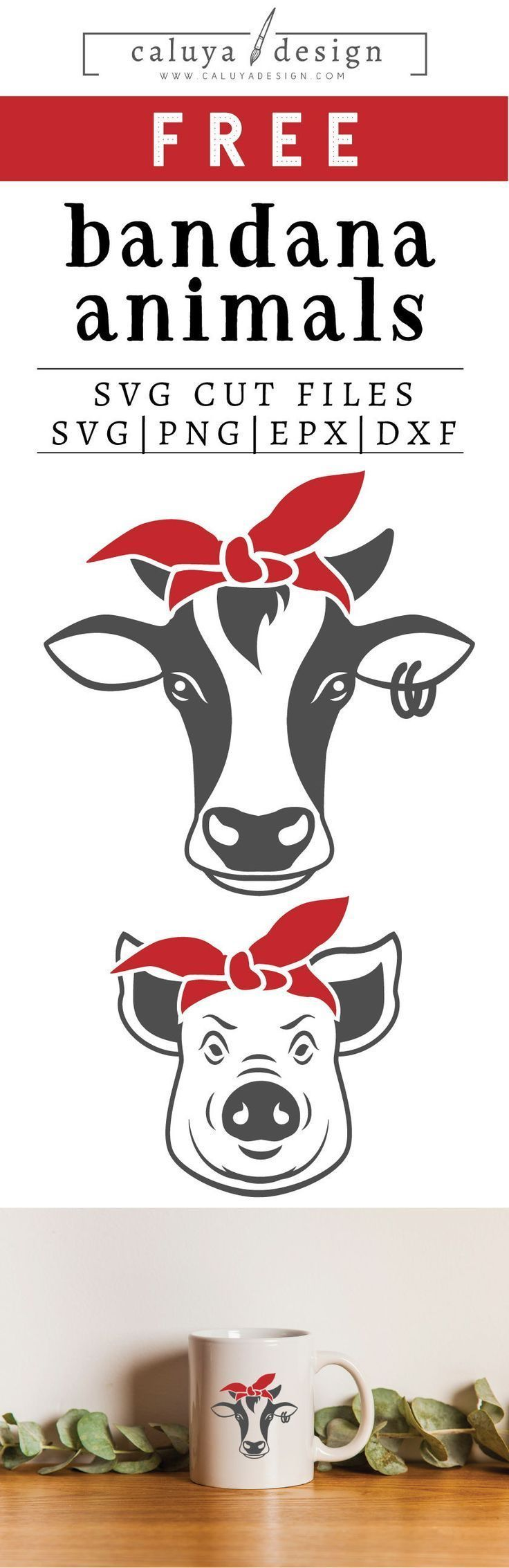 Free Animal Bandana SVG, PNG, EPS & DXF by Free