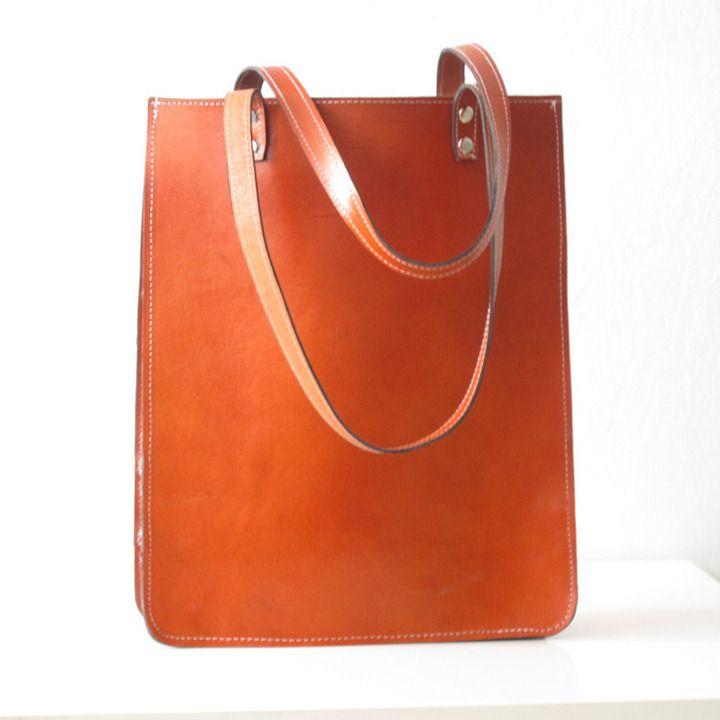 Pamela Leather Tote Bag