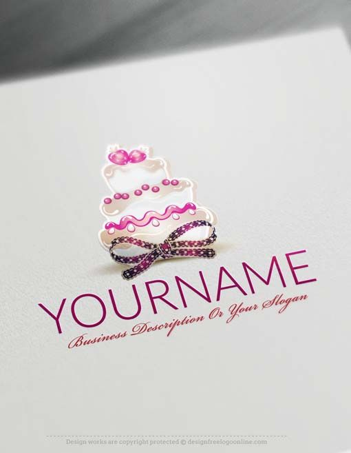 Free Logo Maker Online Sweet Vintage Cake Logo Template Art