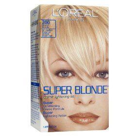 L Oreal Paris Super Blonde Cr Me Lightening Kit Medium Brown To