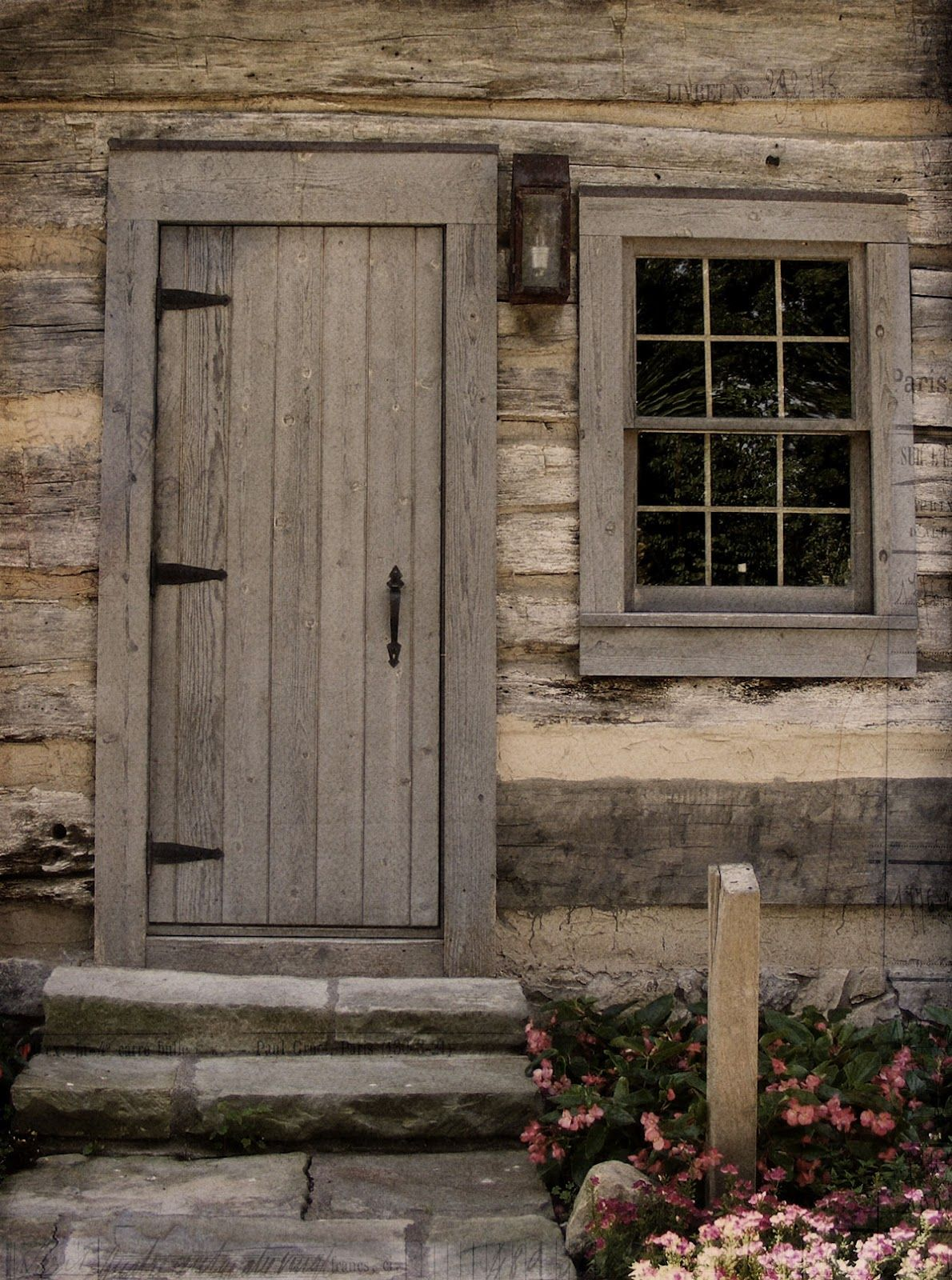 Old log cabin doors | There were no guides to regale with ...