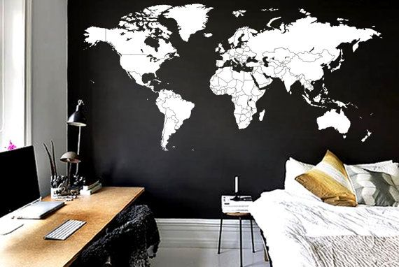 Large map for office wall our home pinterest office walls large map for office wall gumiabroncs Image collections