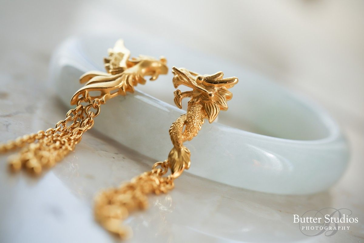 Chinese tea ceremony gold jewelry Wedding Details Pinterest
