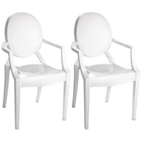 Set of Two Zuo Baby Anime Solid White Kids Armchair