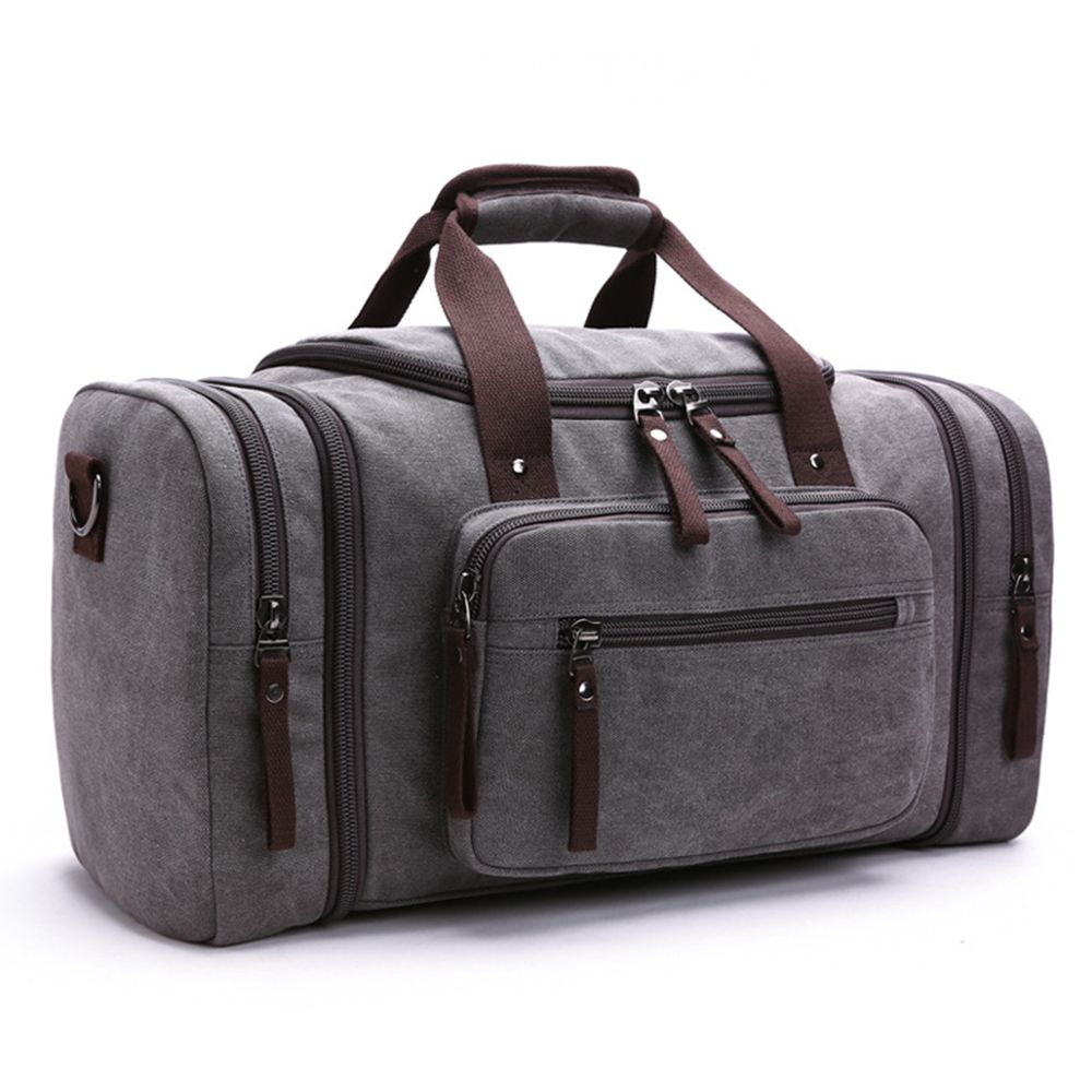 a56f4e99a0 Original Z.L.D Canvas Men Travel Bags Carry on Luggage Bags Men Duffel Bag  Travel Tote Large Weekend Bag Overnight high Capacity-in Travel Bags from  Luggage ...
