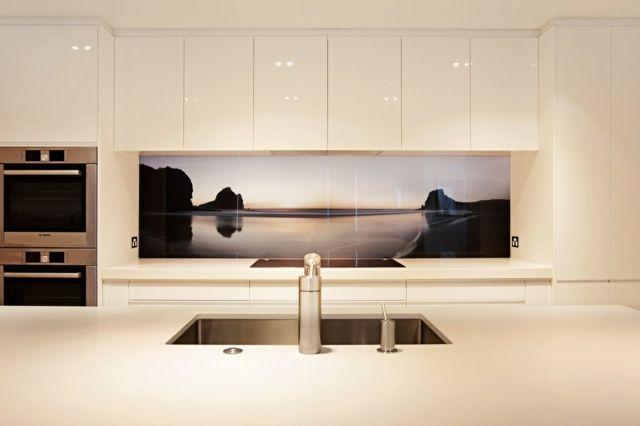 Küchenrückwand Glas schöne Motive Natur Insel Bild | Ideen rund ...