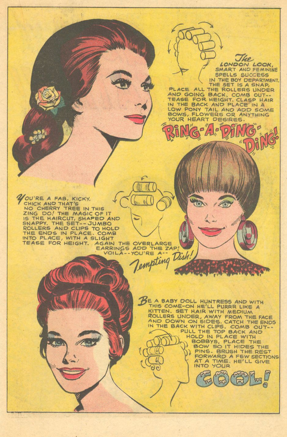 Mad mad modes for moderns mondays hair rollers psychedelic