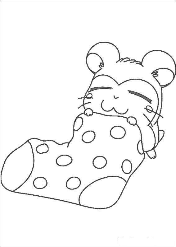 slapen in een sok kleurplaat kleurboek kleurplaten