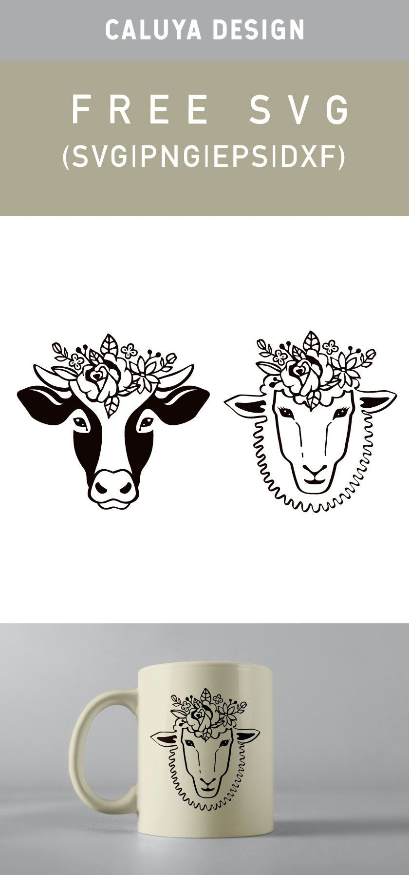 Free Spring Farm Animals SVG, PNG, EPS & DXF by Caluya Design